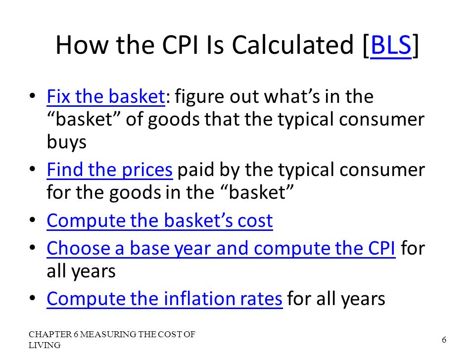 How the CPI Is Calculated [BLS]